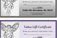 Tattoo Gift Certificate Template 9