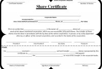 Template Of Share Certificate 2