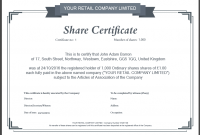 Template Of Share Certificate 5