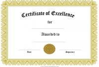Template for Certificate Of Award 3