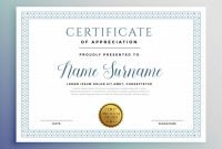 Template for Certificate Of Award 9