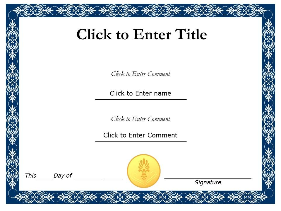 Template For Recognition Certificate 2