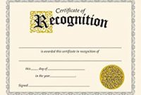 Template for Recognition Certificate 3