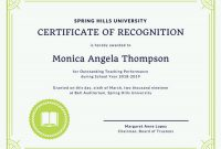 Template for Recognition Certificate 5