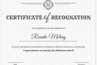 Template for Recognition Certificate 7