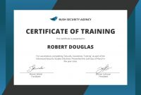 Template for Training Certificate 12