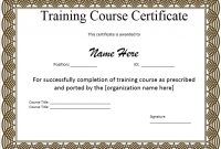 Template for Training Certificate 3
