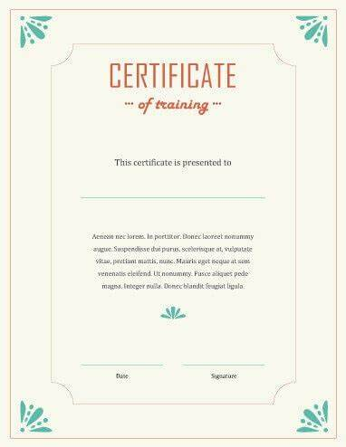Template For Training Certificate 7