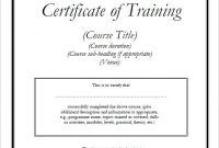 Template for Training Certificate 8