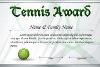 Tennis Certificate Template Free 2