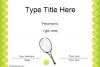 Tennis Certificate Template Free 3