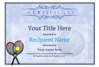 Tennis Certificate Template Free 5