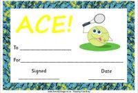 Tennis Certificate Template Free 6