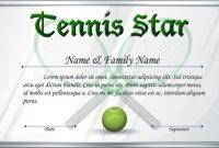 Tennis Certificate Template Free 7