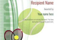 Tennis Certificate Template Free 8
