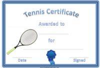 Tennis Certificate Template Free 9