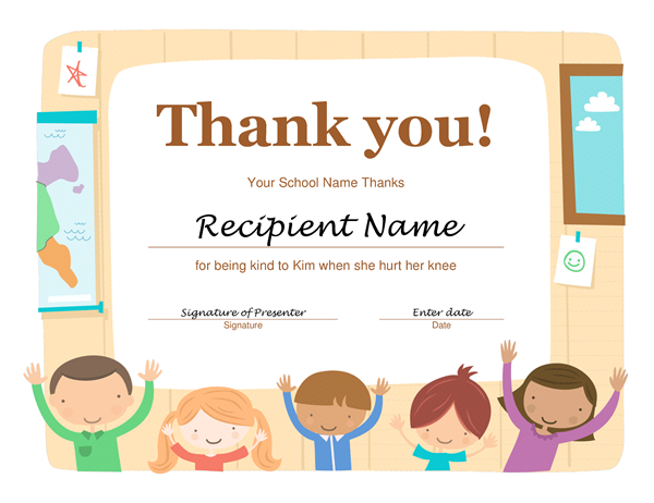Thanks Certificate Template 2