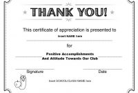 Thanks Certificate Template 4