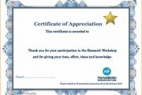 Thanks Certificate Template 5