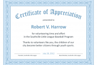 Thanks Certificate Template 6
