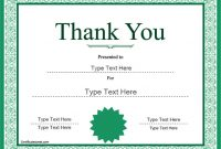 Thanks Certificate Template 7