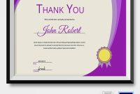 Thanks Certificate Template 8