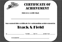 Track and Field Certificate Templates Free 11