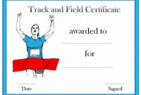 Track and Field Certificate Templates Free 2