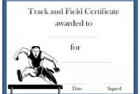 Track and Field Certificate Templates Free 4