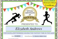 Track and Field Certificate Templates Free 5