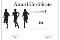 Track and Field Certificate Templates Free 8