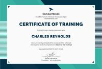 Training Certificate Template Word format 10