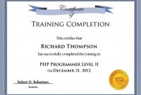 Free Training Certificate Template for Word