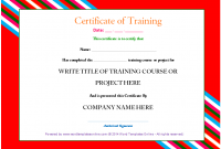 Training Certificate Template Word format 4