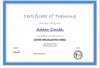 Training Certificate Template Word format 7