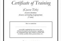 Training Certificate Template Word format 9