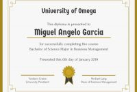 University Graduation Certificate Template 2