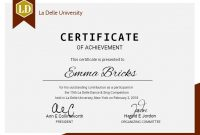 University Graduation Certificate Template 4