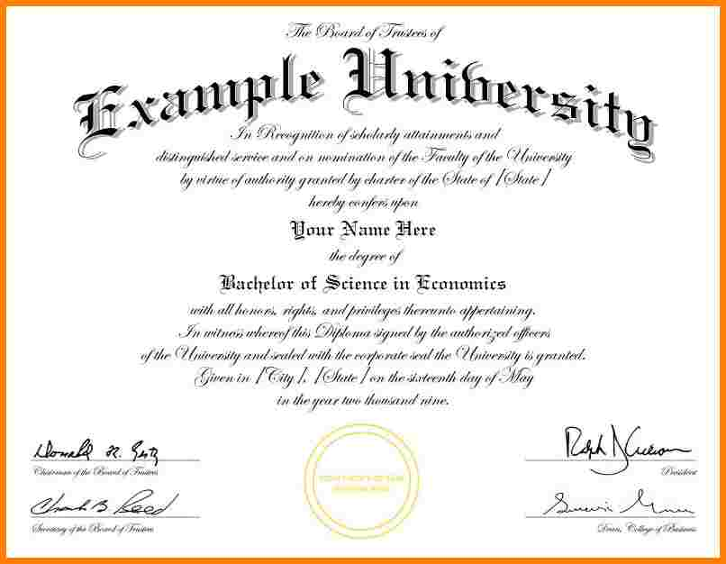 University Graduation Certificate Template 6
