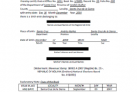 Uscis Birth Certificate Translation Template 4