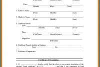 Uscis Birth Certificate Translation Template 5