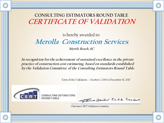 Validation Certificate Template 7