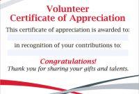 Volunteer Certificate Template 11