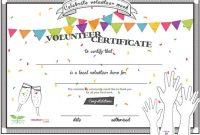 Volunteer Certificate Template 4