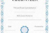 Volunteer Certificate Template 6