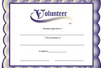 Volunteer Certificate Template 7