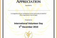 Volunteer Certificate Template 8