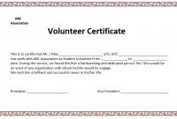 Volunteer Certificate Templates 4