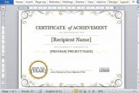 Word 2013 Certificate Template 12