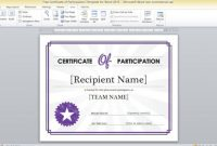 Word 2013 Certificate Template 2
